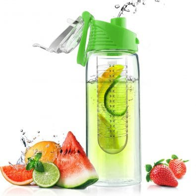 Glass Water Bottle with Fruit Infuser