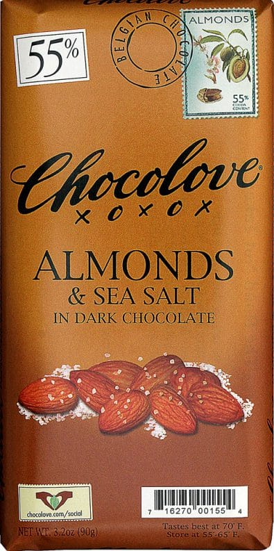 Dark Chocolate Bar Almonds & Sea Salt