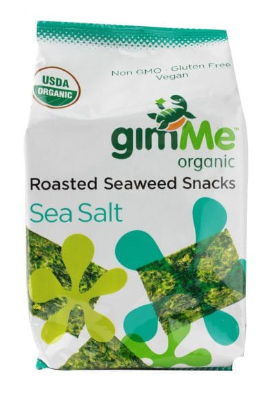 Organic Roasted Seaweed Snacks Sea Salt