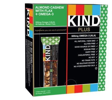 Almond, Cashew with Flax + Omega-3 Bars