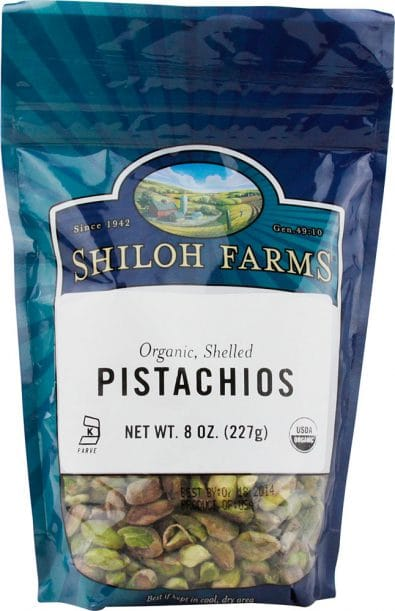 Organic Shelled Pistachios