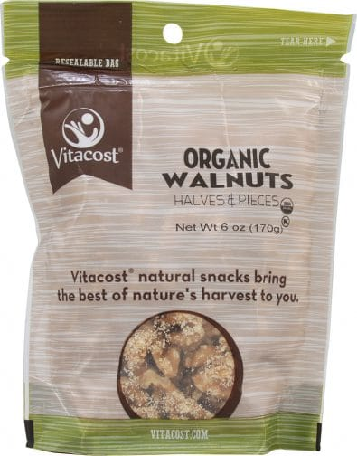 Organic Walnut Halves and Pieces Unsalted