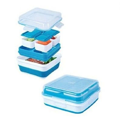 Collapsible Bentox Box Container With Freezer Tray