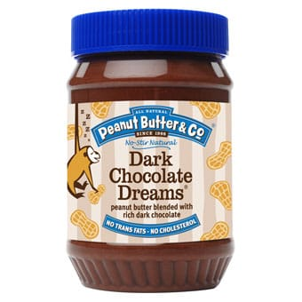 Peanut Butter Blended with Dark Chocolate