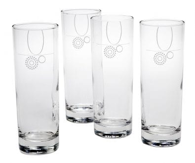 4 Portion Control Drinking Glasses