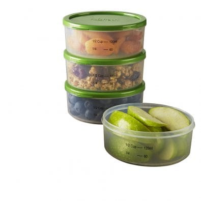 Smart Portion Reusable Lunch Containers