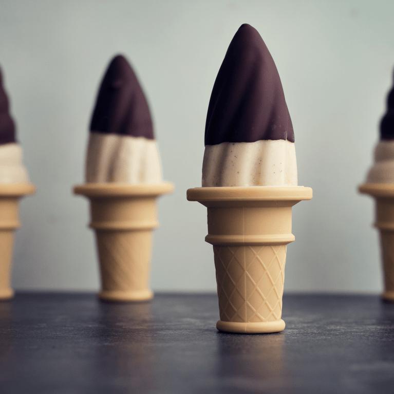 Chocolate Dipped Banana Ice Cream Pops
