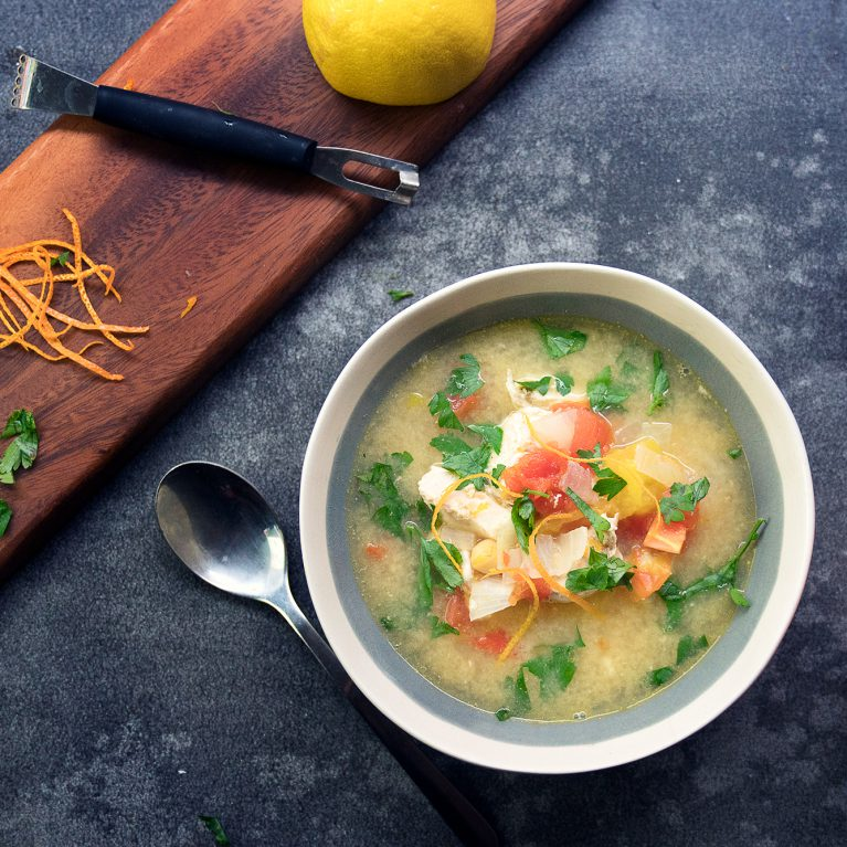 Healthy Orange Chicken Soup