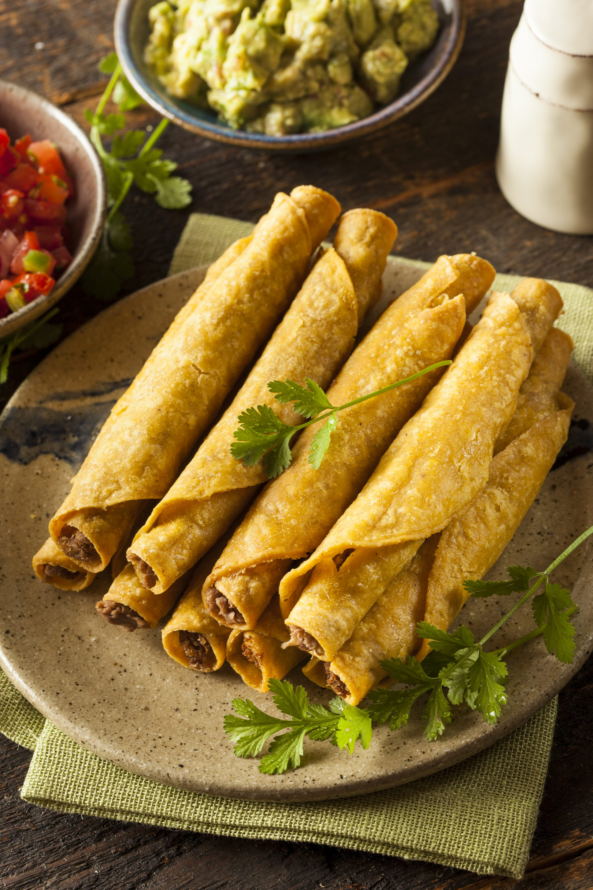 baked chicken and cheese rolled tacos pin