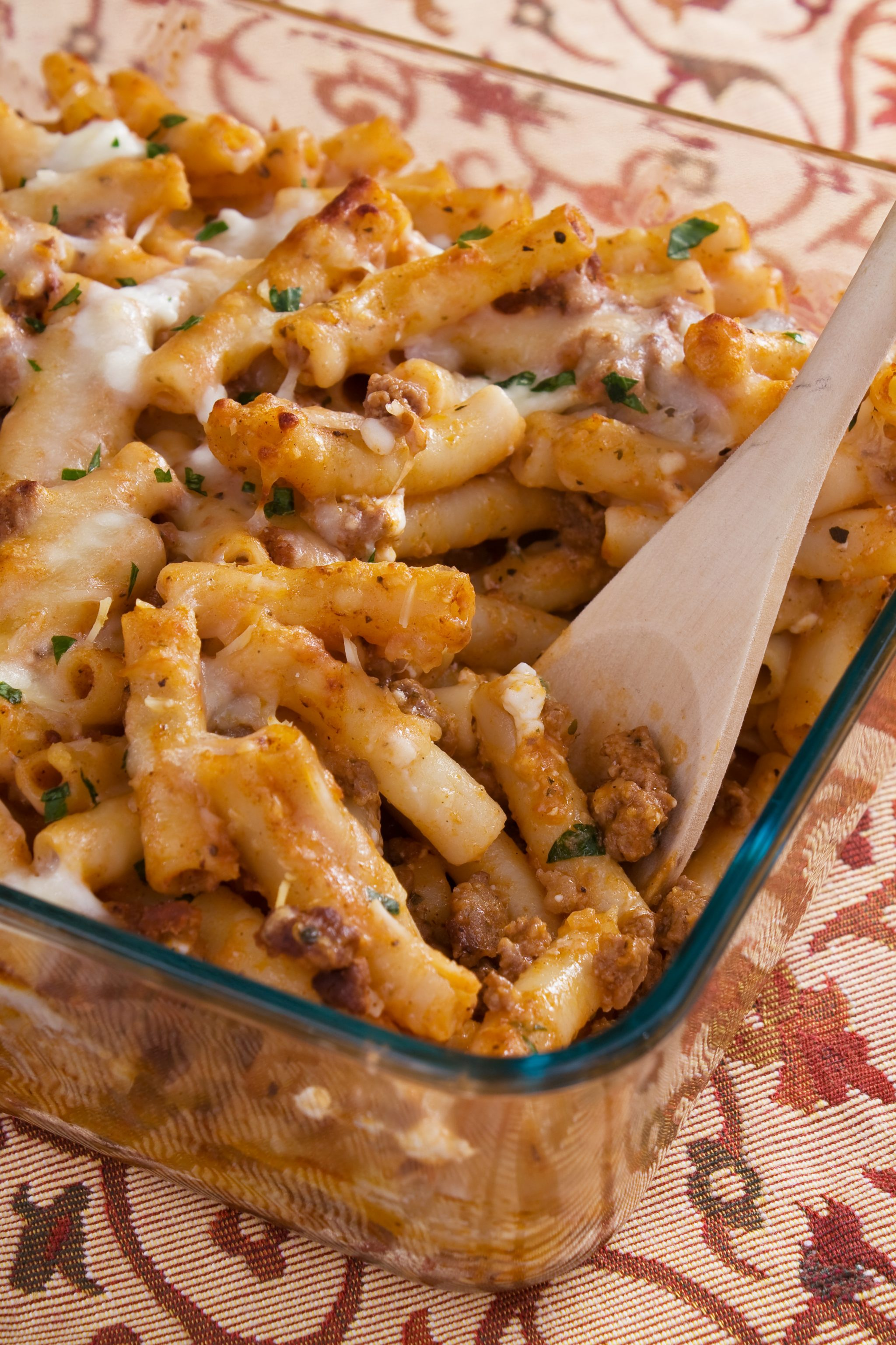 Baked Ground Beef Ziti Slenderberry