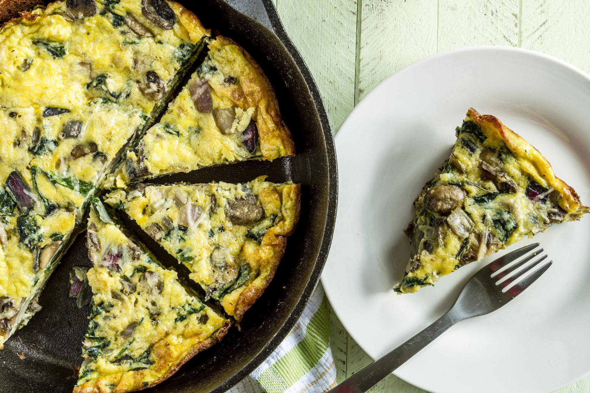 Spinach And Mushroom Quiche Slenderberry